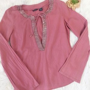 American Eagle | Mauve Long Sleeve Boho Tunic